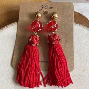 💝 FINAL NWT JCREW XLong ThreadTasselBall Earrings